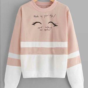 NWT Letter Graphic Cut & Sew Sweatshirt